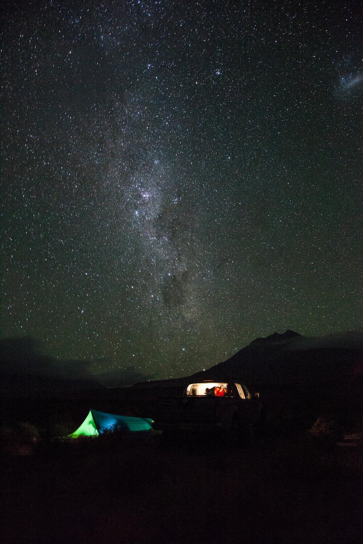 Remote beach camp on the Chilean coast north of Santiago. | Photo: Jonathan & Roseann Hanson