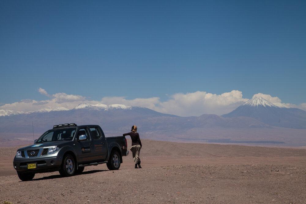 Nearly 14,500 feet on our way to Laguna en Salar de Aguas Calientes, east of San Pedro de Atacama and close to the Chile-Bolivia border. | Photo: Jonathan & Roseann Hanson