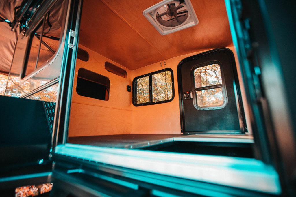 Interior of Hiker Trailer.
