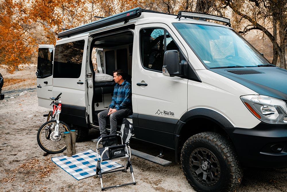 Jonny Feld in a Field Van Sprinter