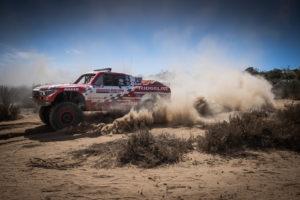 Honda Ridgeline kicking up dust in Baja