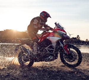 Ducati Multistrada riding on dirt road