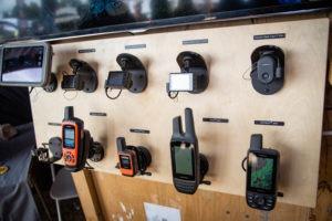 Samples of Garmin GPS units at Overland Expo
