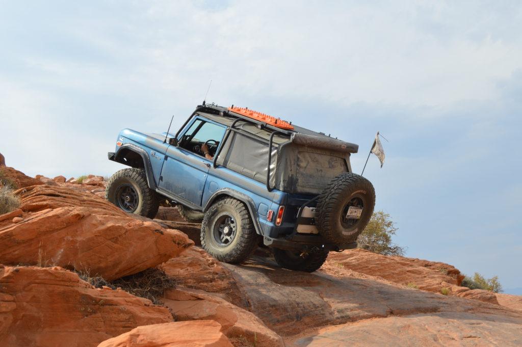 Paul Perry's Bronco in Sand Hollow, Utah.