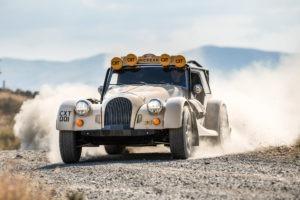 Morgan car in the desert.