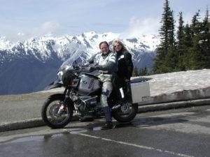 Moto tourers on BMW motorcyce.