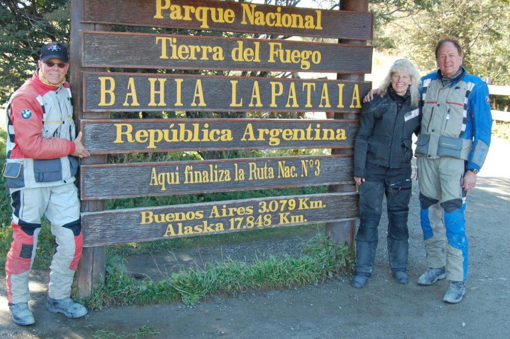 Moto tourers at Tierra del Fuego