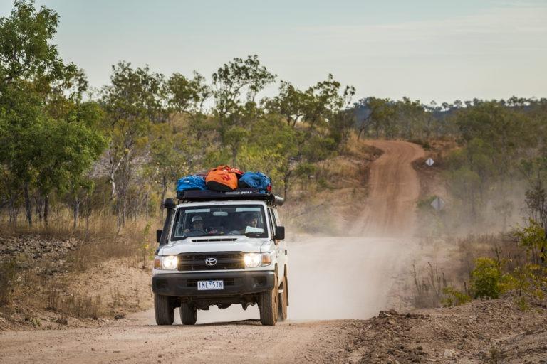 Landcruiser in the Australian outback.