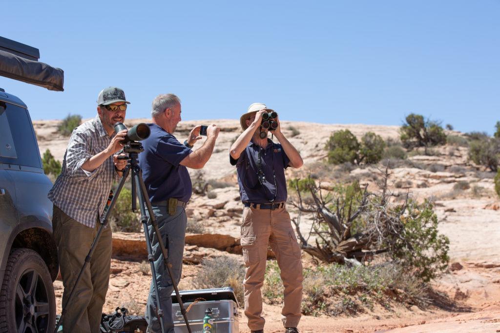 Overlanders in the desert.