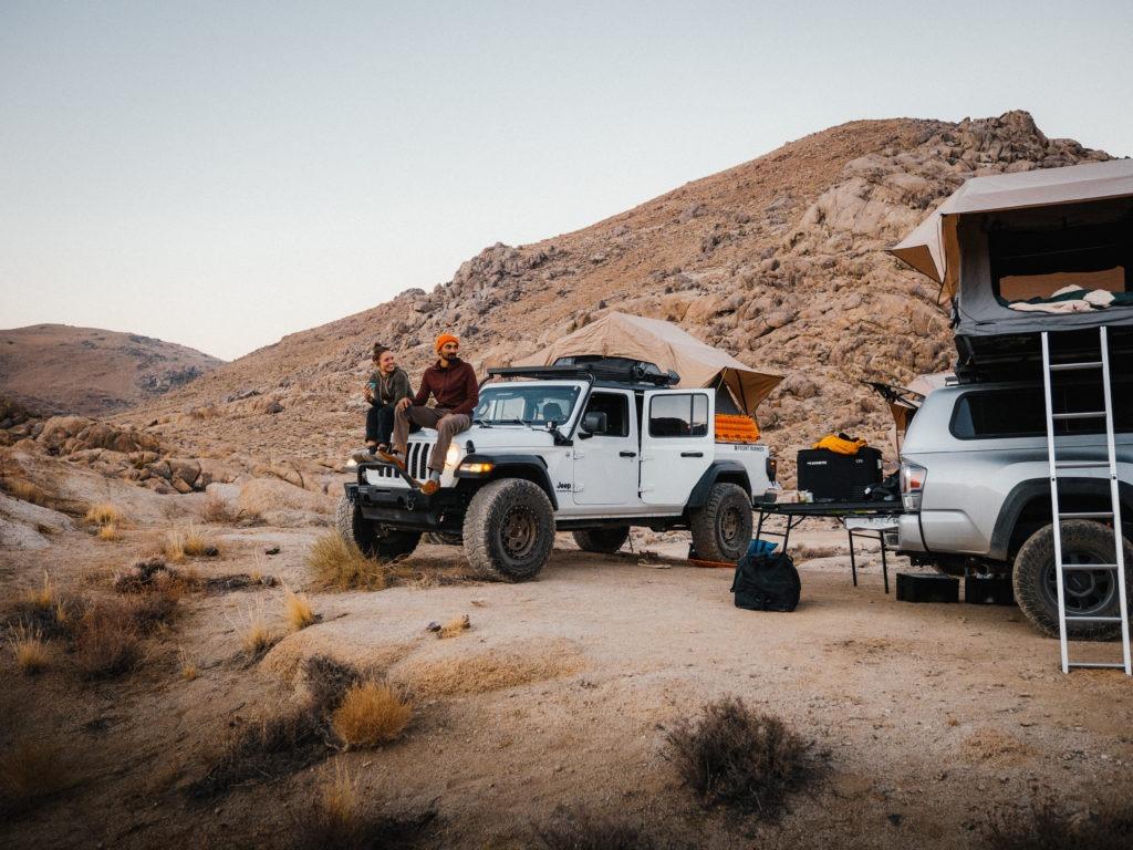 Desert overland camp.