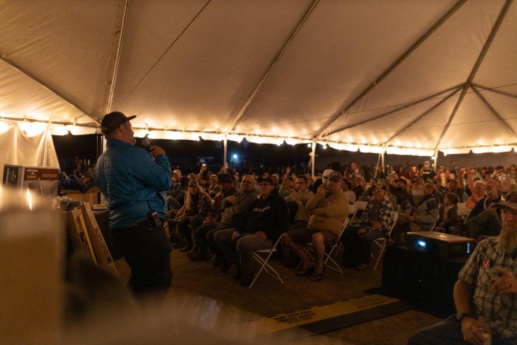 Anthony Sicola hosting the Overland Expo Foundation raffle.